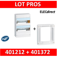 Legrand - LOT PROS - Coffret DRIVIA 26 Modules + rehausse - 401212+401372