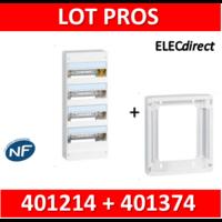 Legrand - LOT PROS - Coffret DRIVIA 52 Modules + rehausse - 401214+401374