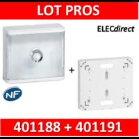 Legrand - LOT PROS - Platine pour Disjoncteur branchement Seul - DRIVIA 13M + habillage + porte - 401191+401188