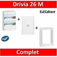 Legrand - LOT PROS - Coffret DRIVIA 26 Modules + rehausse + porte - 401212+401372+401332