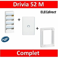Legrand - LOT PROS - Coffret DRIVIA 52 Modules + rehausse + porte - 401214+401374+401334