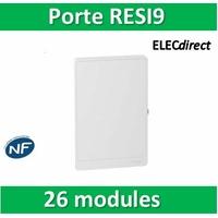 Schneider - Porte Opaque blanche RESI9 - 26 modules - R9H13422
