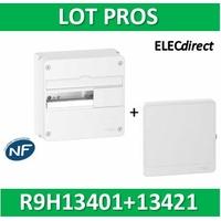 Schneider - LOT PROS - Coffret électrique RESI9 13 modules - 1 rangée de 13M + porte - R9H13401+R9H13421