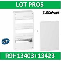 Schneider - LOT PROS - Coffret électrique RESI9 39 modules - 3 rangées de 13M + porte - R9H13403+R9H13423