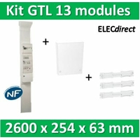 Schneider - Pack goulotte GTL 13 modules - 63 x 254 x 2400/2600mm complet Resi9 - R9HKT13