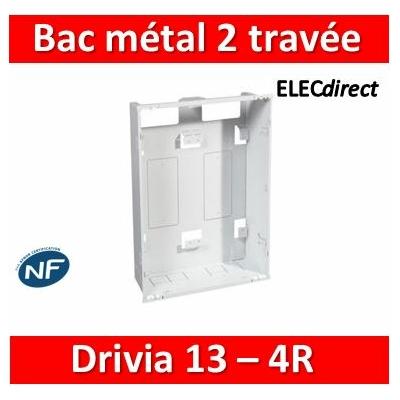 Legrand - Bac métal 2 travées pour coffret 4 rangées 13 modules + platine + coffret de communication - 401448