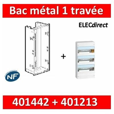 Legrand - Bac métal 1 travée Drivia 13 + coffret 3R 13M + platine + coffret com. - 401442+401213