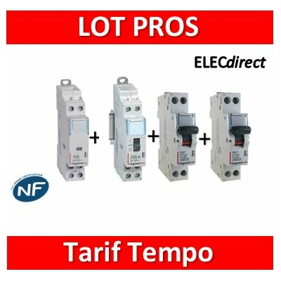 Legrand - Contacteur CX3 J/N heures creuses pour tarif Tempo  - 25A 2P - O+F - 412500+412524+406771+406775