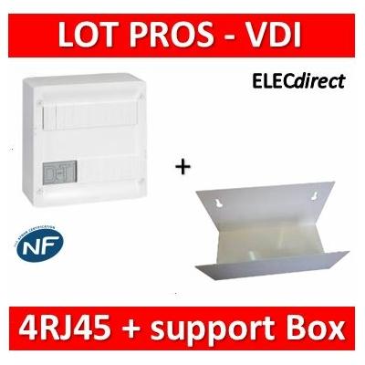 Legrand - Coffret VDI GRADE 1 et 2 - 4 RJ45 + support BOX Casanova - 413218+ETTRI250