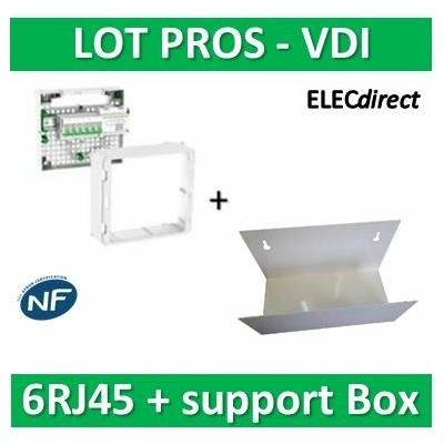 Schneider - Coffret VDI Grade 2 LexCom ECO-PACK 6 RJ45 + support Box - VDIR390024+ETTRI250