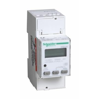Schneider - Acti9 iEM - compteur d'énergie mono - 63A - afficheur Modbus - A9MEM2150