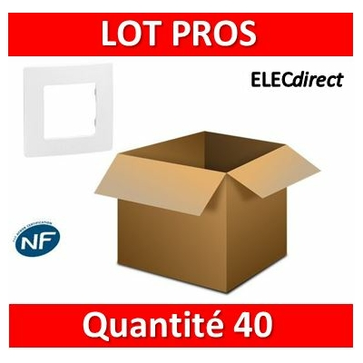 Legrand Niloé - LOT PROS - Plaque simple - Blanc - 665001x40