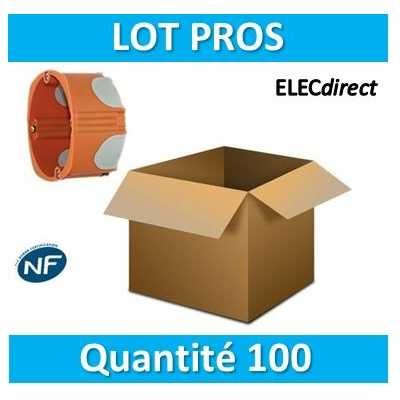 SIB - LOT PROS - Boîte simple BBC 1 poste Profondeur 40mm - 36840 x100