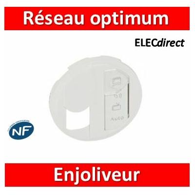 Legrand Enjoliveur Céliane pour prise simple pour réseau Optimum - Blanc 068291
