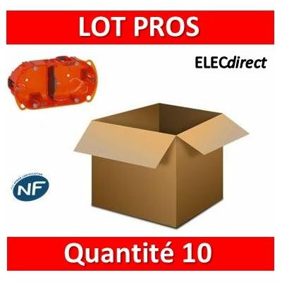 Legrand Batibox - Boîte multimatériaux 2 postes - 4/5M - Hor/Ver - profondeur 40 mm - 080102x10