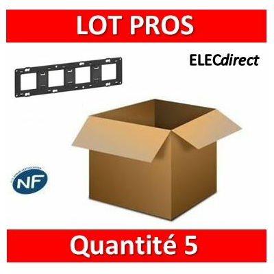 Legrand - Support 4 postes (8M) - Mosaic/Céliane - Fixation VIS - 4 x 2 modules - 080254x5