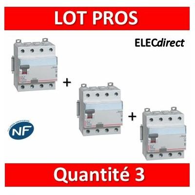 LEGRAND - Interrupteur différentiel DX3-ID 4P 40A - 30mA - AC - 411661x3