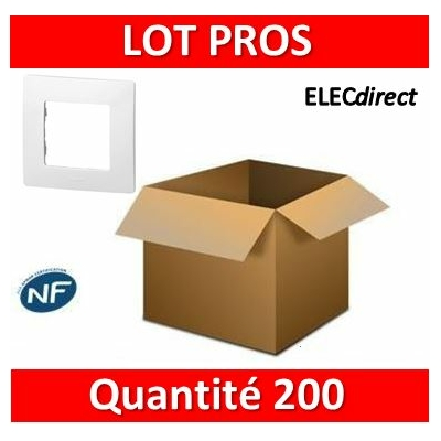 Legrand Niloé - LOT PROS - Plaque simple - Blanc - 665001x200