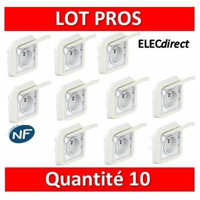 Legrand Plexo - Prise de courant encastré - blanc - 16A - 230V - IP55/IK07 - 069870x10