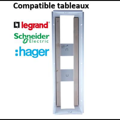 SIB - Bac métal 1 travée 13 - universel- coffret 2R + platine + coffret com. - P06462
