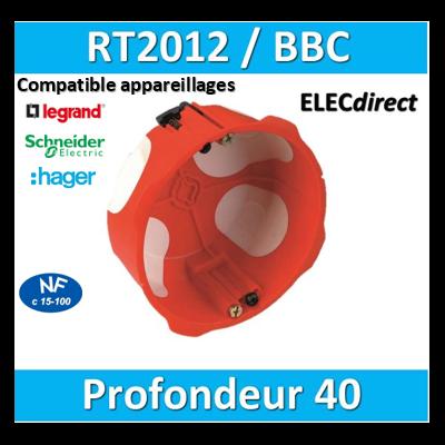 SIB - Boîte simple BBC 1 poste Profondeur 40mm - 36840