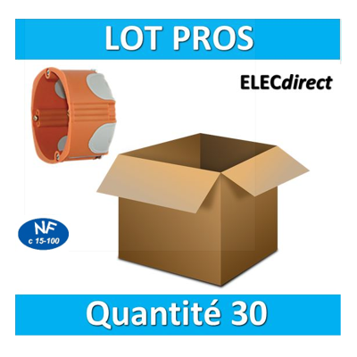 SIB - LOT PROS - Boîte simple BBC 1 poste Profondeur 40mm - 36840 x30