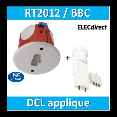 SIB - Kit Sortie d'applique DCL BBC + douille (mural) - 35449