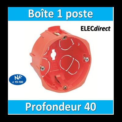 SIB - Boîte simple 1 poste Profondeur 40mm - P16840
