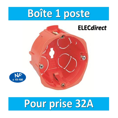 SIB - Boîte simple 32A - 18640
