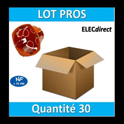 SIB - LOT PROS - Boîte simple 1 poste Profondeur 40mm - 16840 x30
