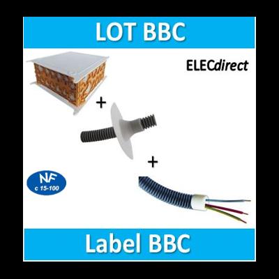 SIB - LOT PROS - Boîte pavillonnaire BBC + bouchon D.16x100 et 20x100 + mamelonx10 BBC