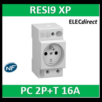 Schneider - Resi9 XP - Prise de courant 2P+T 16A - 250V - R9PCS616
