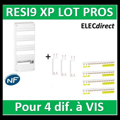 Schneider - Resi9 - coffret 13M - 4R + Peignes H. et V. - R9H13404+R9PXVx3+R9PXH213x4