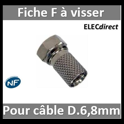 """CAE - Fiche F - TV - """"Mâle"""" à visser - D. 6.8mm - RZ154"""