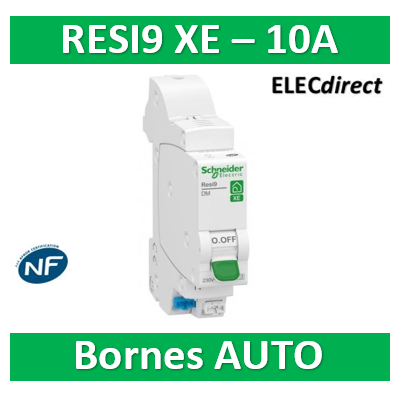 SCHNEIDER DISJONCTEUR RESI9 AUTO XE - 10A - EMBROCHABLE - R9EFC610