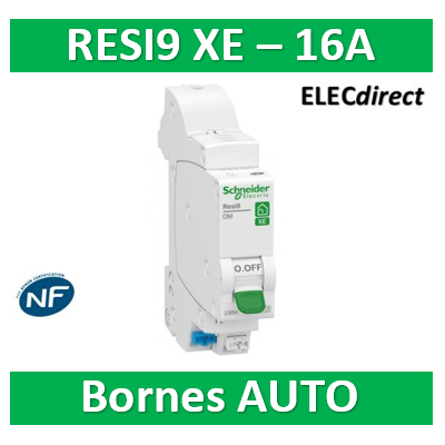 SCHNEIDER DISJONCTEUR RESI9 AUTO XE - 16A - EMBROCHABLE - R9EFC616