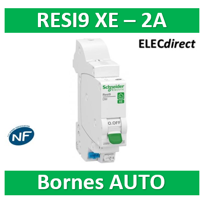 SCHNEIDER DISJONCTEUR RESI9 AUTO XE - 2A - EMBROCHABLE - R9EFC602