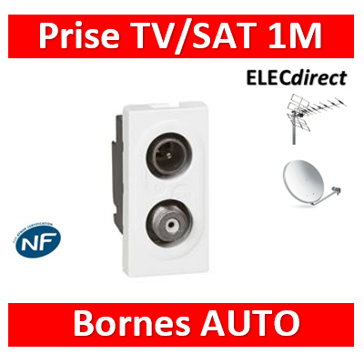 Legrand - Mosaic TV-SAT 1 Module - 078795