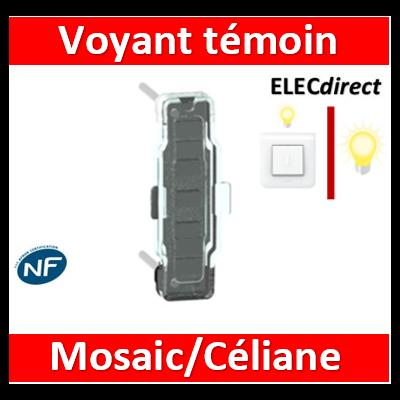 Legrand - Voyant Témoin LED Prog. Céliane/Mosaic 230V - 067688
