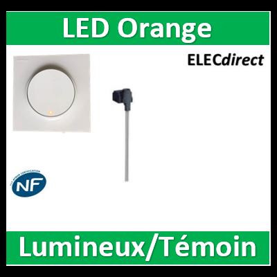 Schneider Odace - Témoin/Lumineux LED orange - s520290