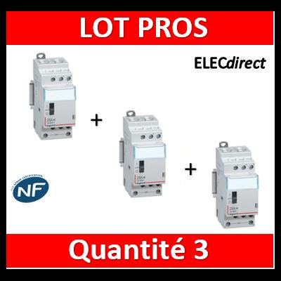 Legrand - Contacteur J/N heures creuses 25A - 400V Tripolaire - 412502x3