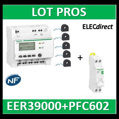 Schneider - Compteur RT2012 - 5 entrées 230V + 5 tores + Disjoncteur XP 2A - Wiser - EER39000+R9PFC602