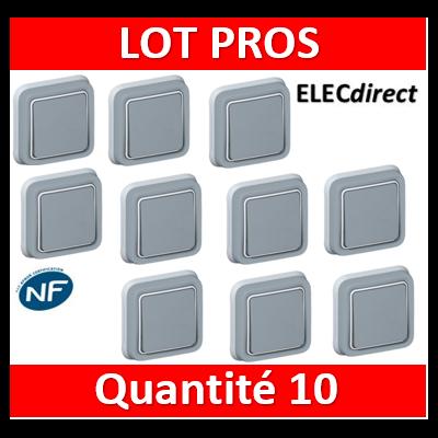 Legrand Plexo - Va-et-Vient encastré 10A - 230V - IP55/IK07 - 069811x10