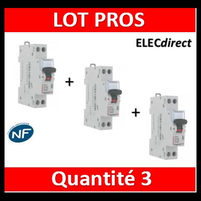 Legrand - Disjoncteur courbe D - DNX3 - 20A - Ph+N - 1M - 406803x3