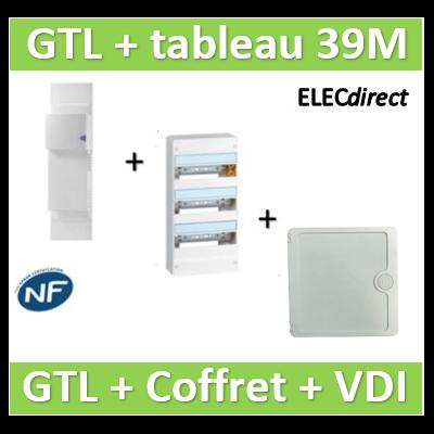 Rehau - GTL 13M + tableau 39M + VDI 4RJ45 Casanova - 733808+401213+CTRIETG14X4+CASPCT250
