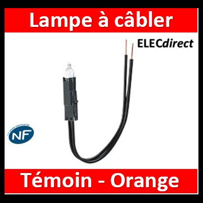 Legrand Oteo - Lampes à câbler 230 V - néon orange forte luminescence - consommation 0,4 W - 089906