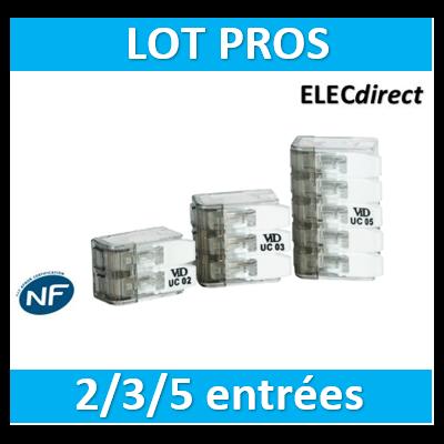 SIB - LOT PROS 1 boîte 2 entrées, 3 entrées et 5 entrées - P07315+P07312+P07313