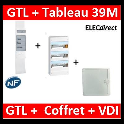 Legrand - Kit GTL 13M complet + tableau 39M + VDI 4RJ45 casanova - 030037+401213+CTRIEGT14X+porte