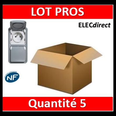 Legrand Plexo - Double prise de courant 2P+T 16A 230V - vertical - IP55/IK07 - 069661x5+069563x5