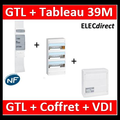 Legrand - Kit GTL 13M complet + tableau 39M + VDI 8RJ45 - 030037+401213+413248-413083x4